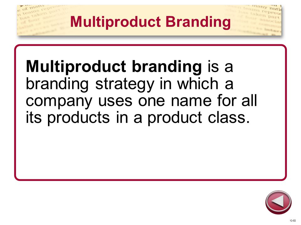 Multiproduct Branding