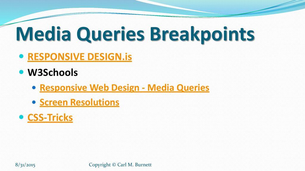 media query w3schools