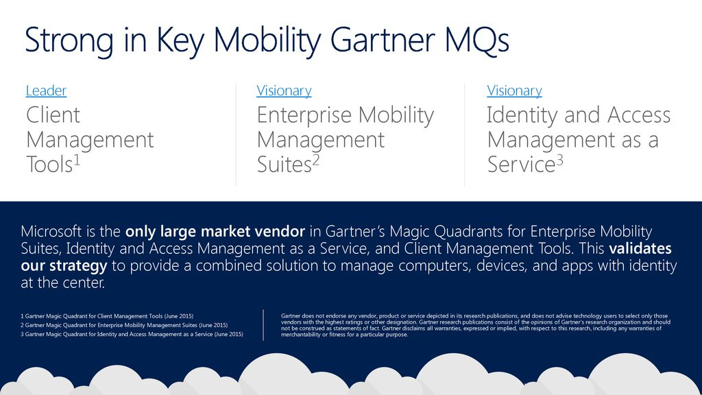 Microsoft Investments for Enterprise Mobility Partners - ppt download