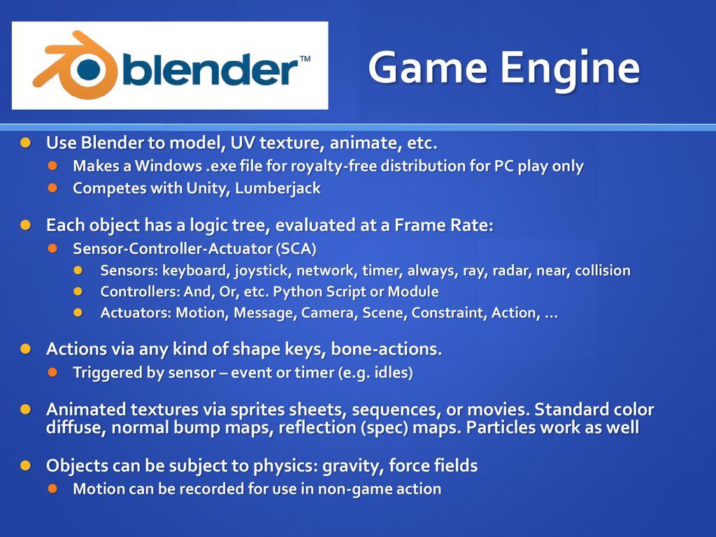 Blender API: Part 2: Game Engine - ppt download