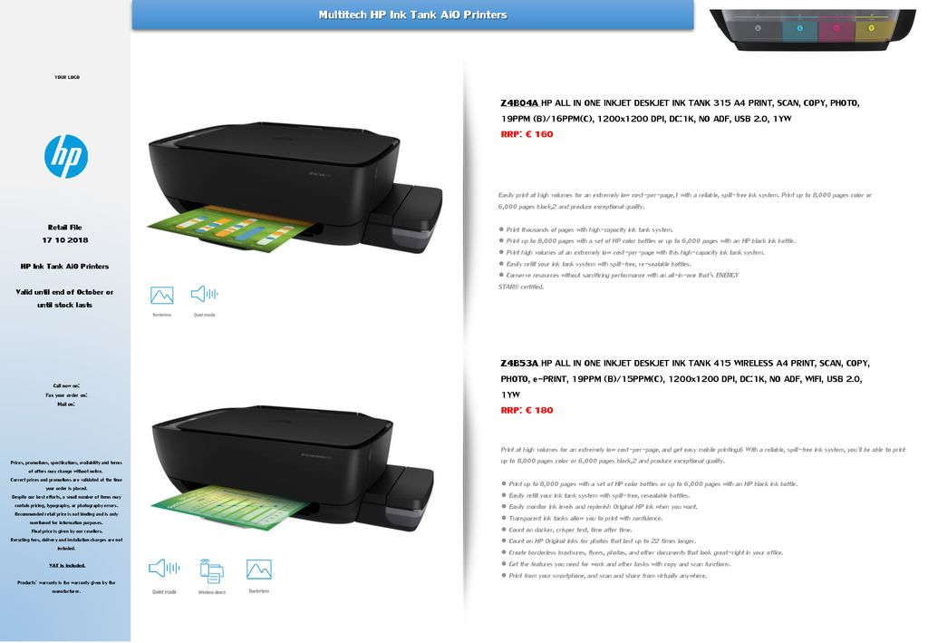 Hp Ink Tank Aio Printers Ppt Download