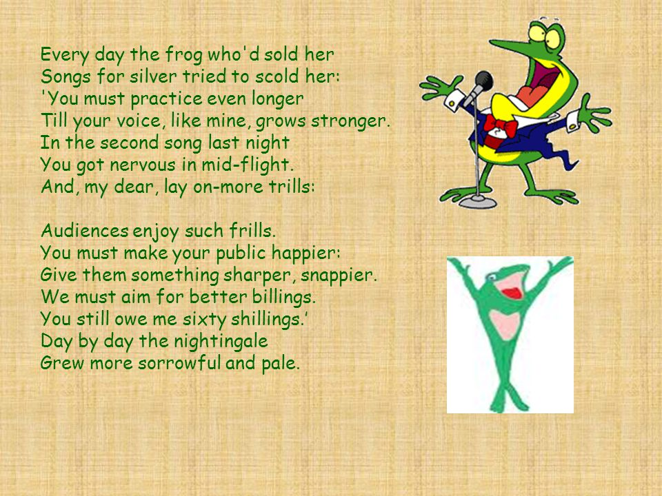 Every day the frog who d sold her