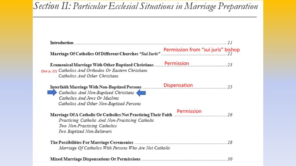 Marriage Preparation Forms - ppt download