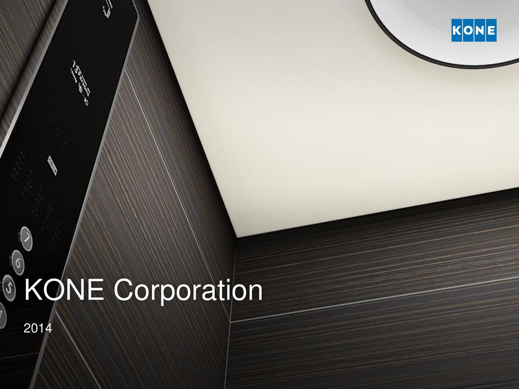 KONE Corporation ppt download