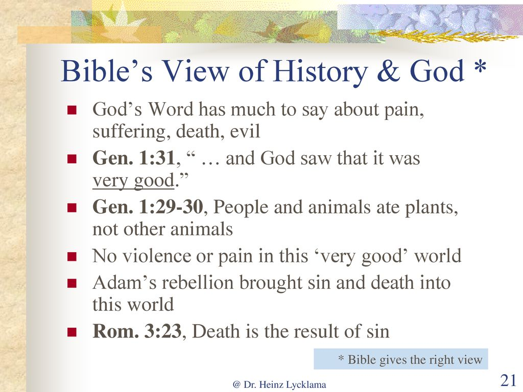 Why Is There So Much Pain and Suffering? - ppt download