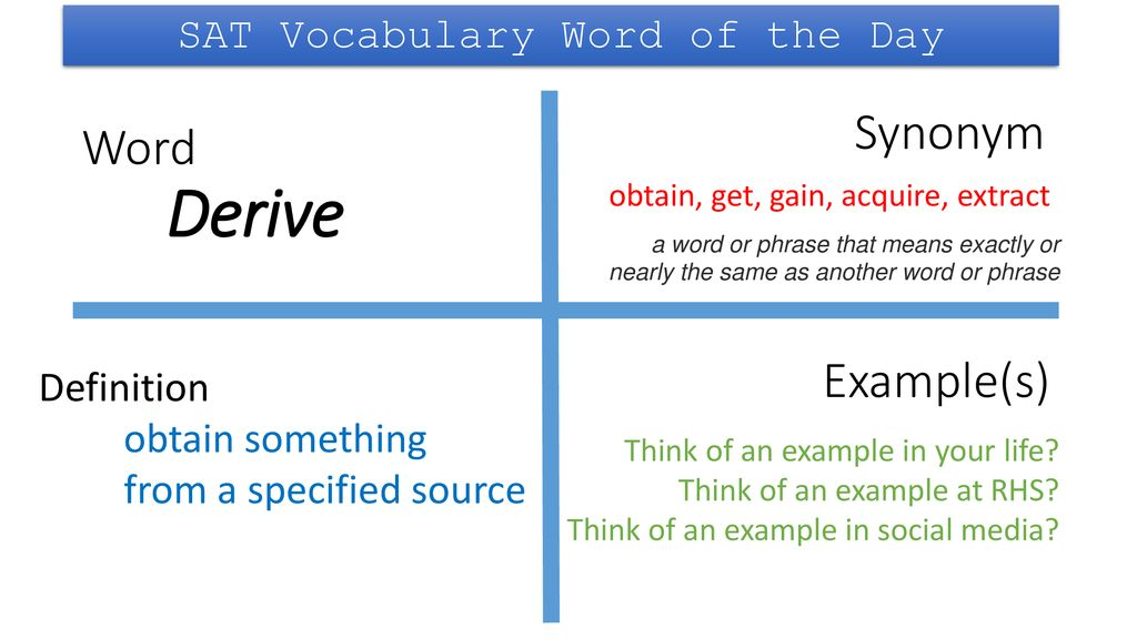 Sat Vocabulary Word Of The Day Ppt Download