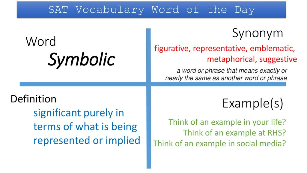 SAT Vocabulary Word of the Day - ppt download