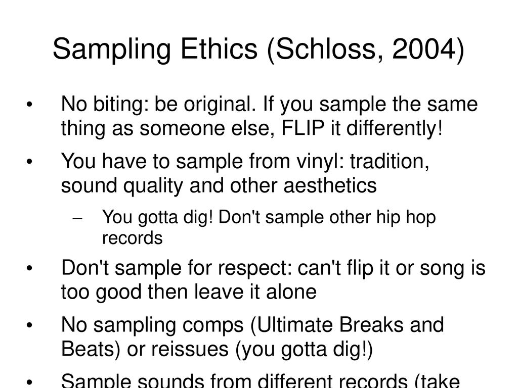 Sampling Technique and Ethics - ppt download