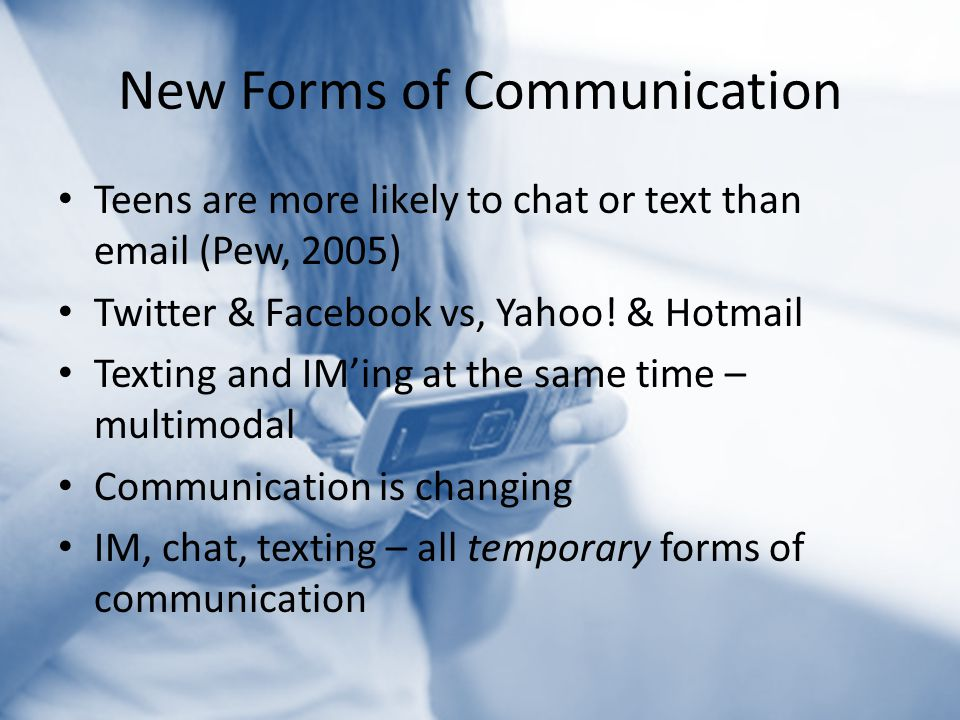 New Forms of Communication