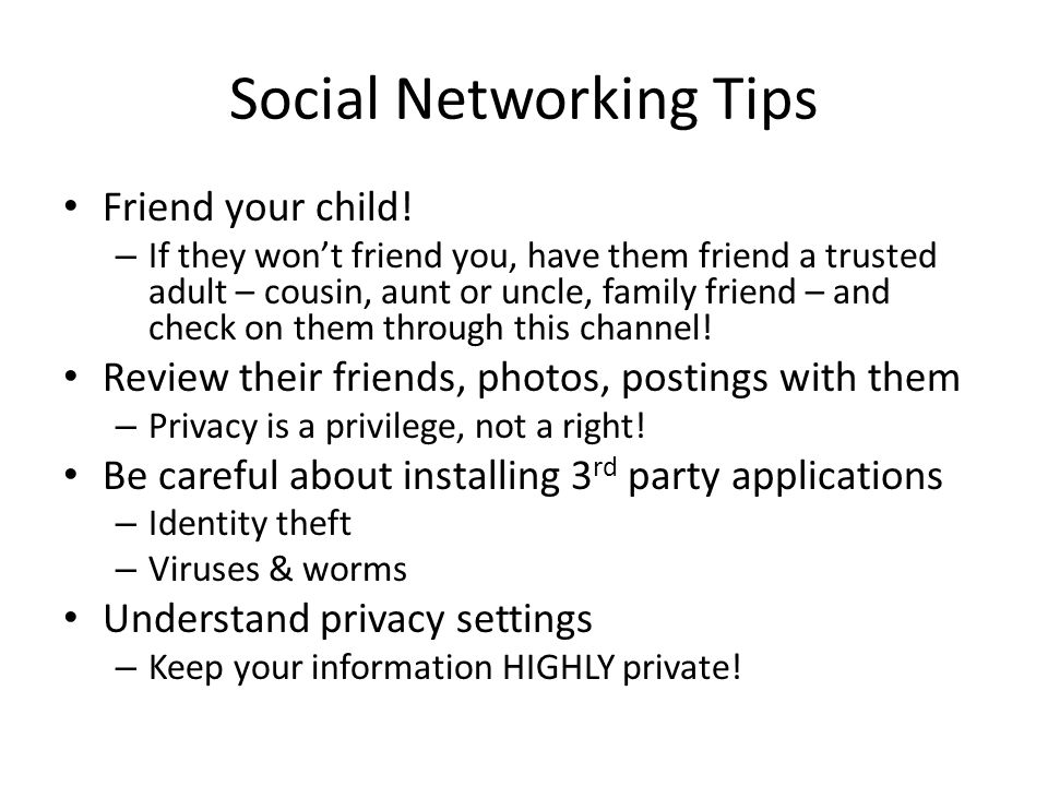 Social Networking Tips