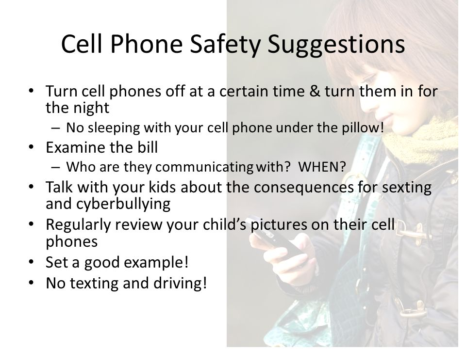 Cell Phone Safety Suggestions