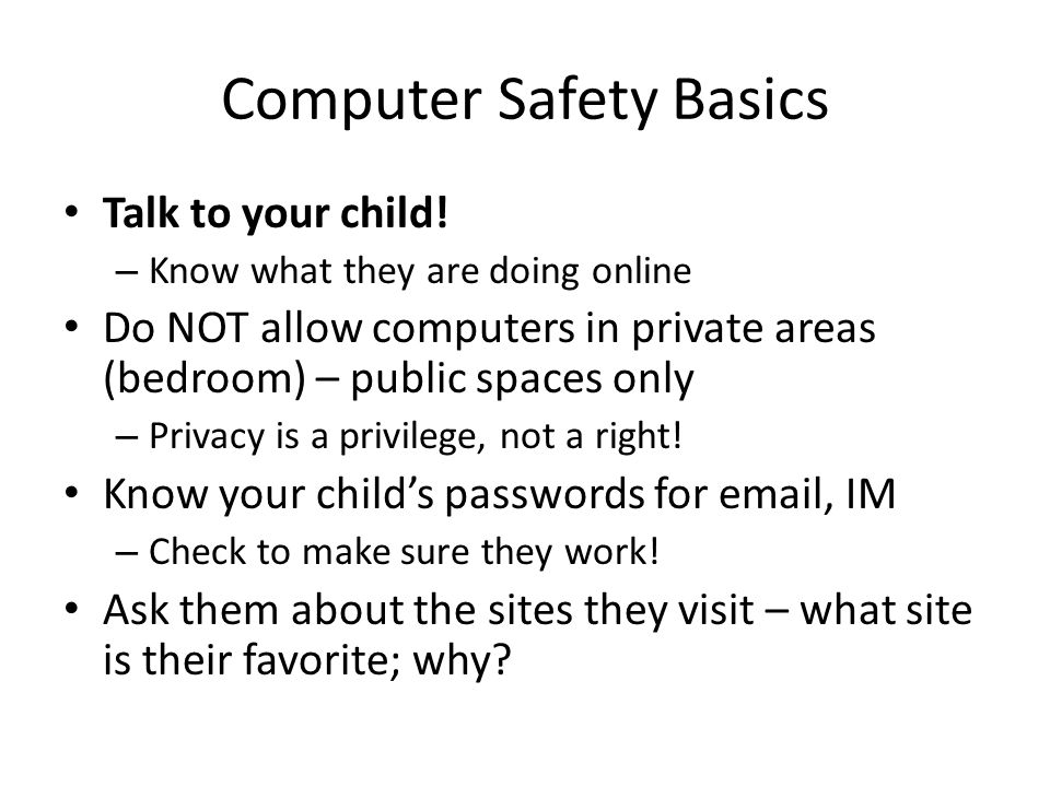 Computer Safety Basics