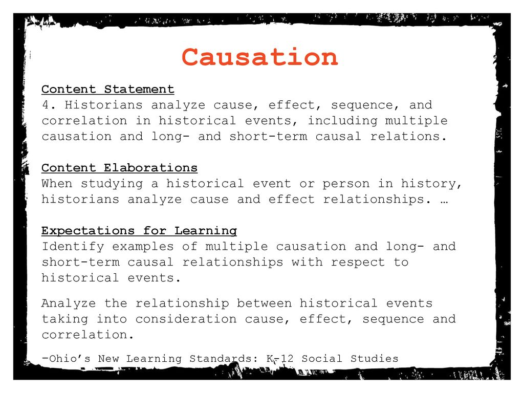 cause and effect in history examples