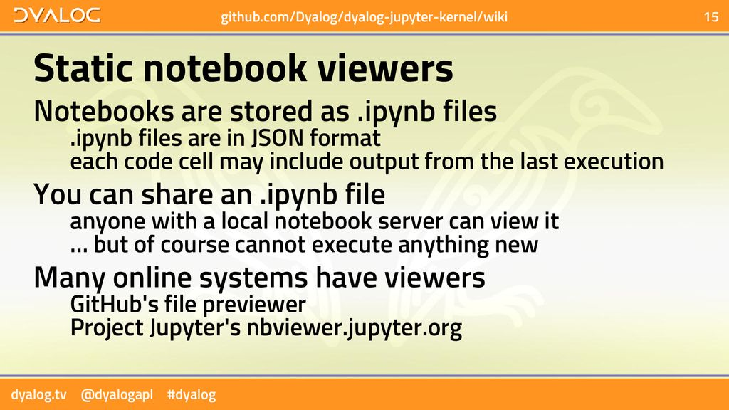 Jupyter Notebooks in Dyalog APL - ppt download