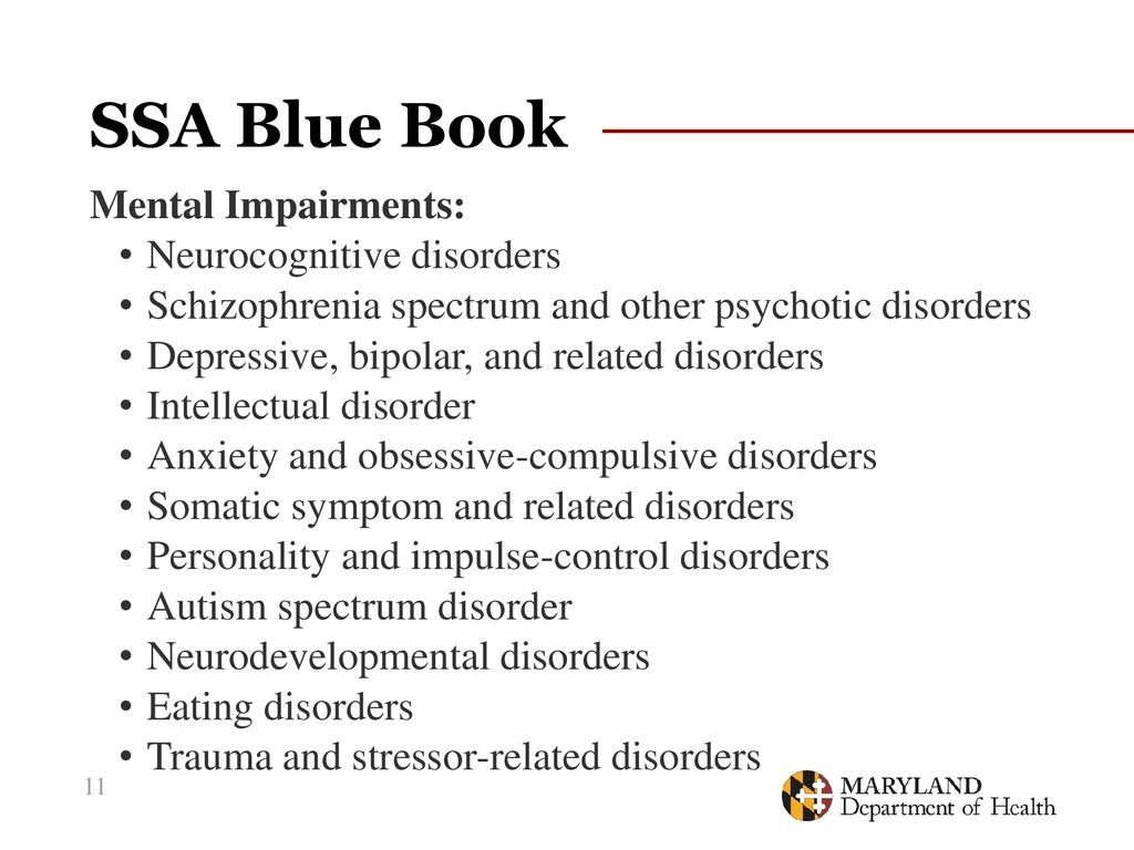 Ssa Blue Book