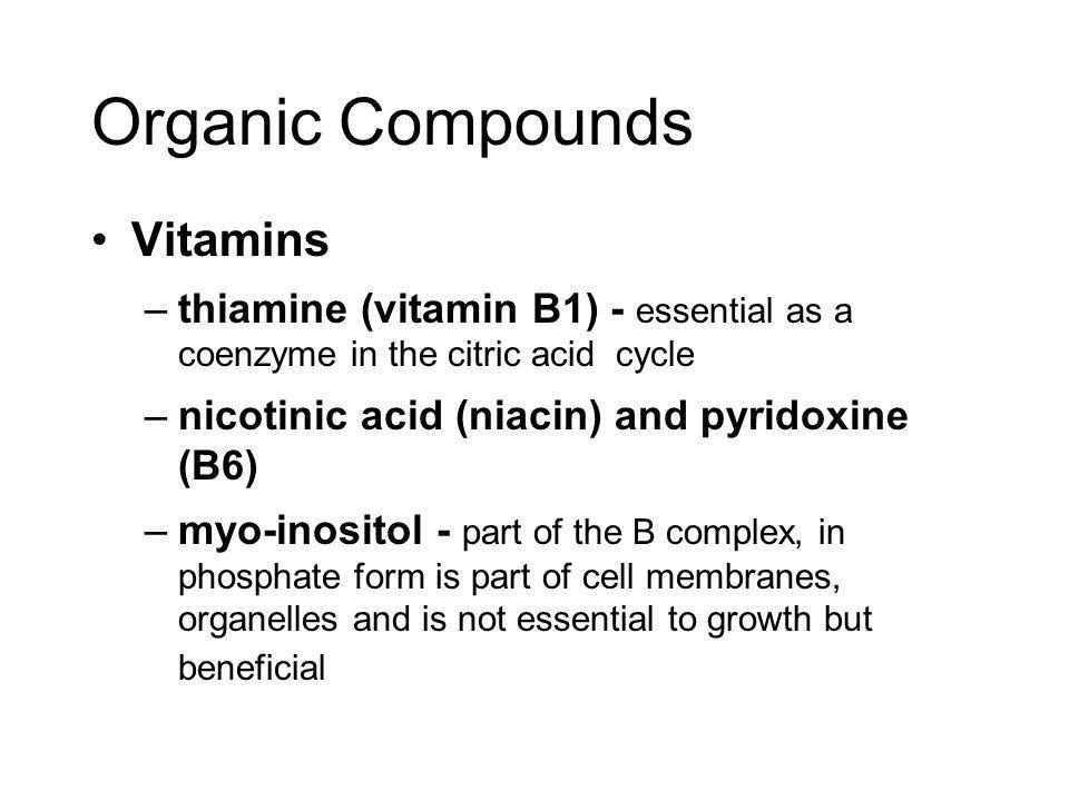 Organic Compounds Vitamins