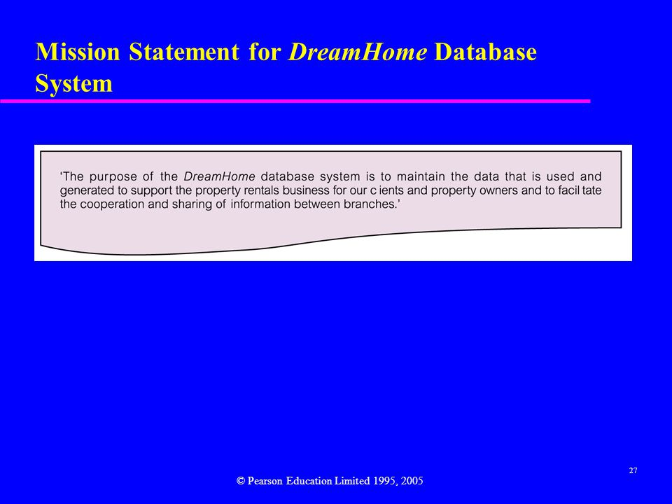 Mission Statement for DreamHome Database System