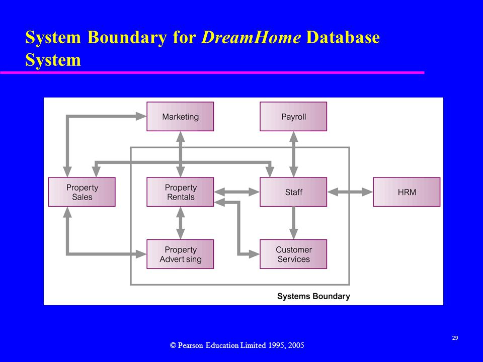 System Boundary for DreamHome Database System