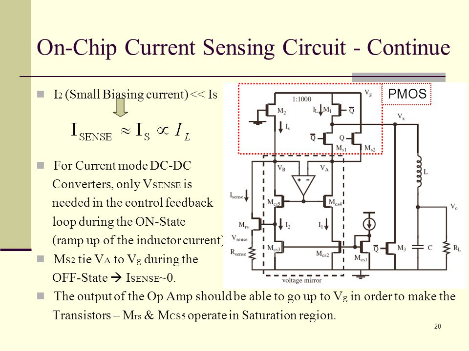 On-Chip Current Sensing Circuit - Continue