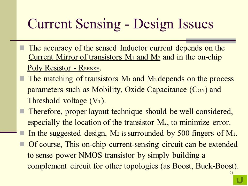 Current Sensing - Design Issues