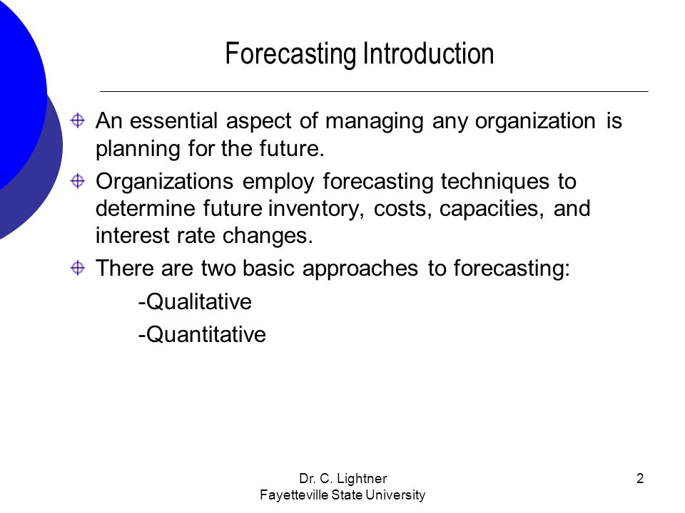 Forecasting Introduction