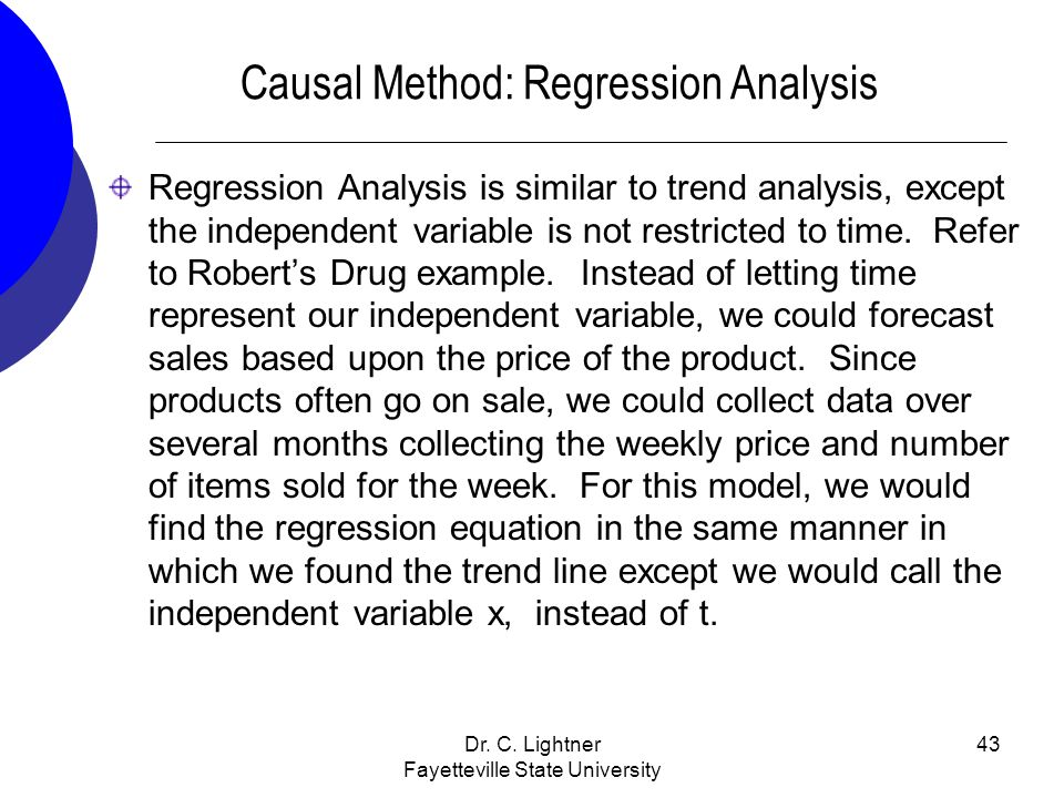 Causal Method: Regression Analysis