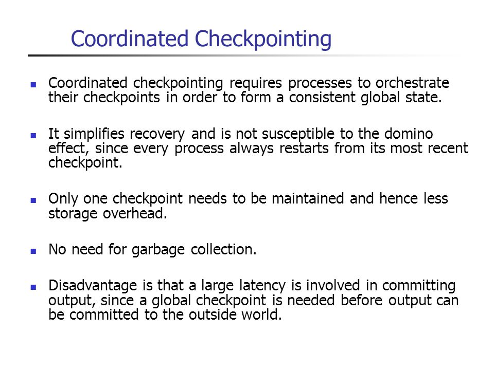 Coordinated Checkpointing