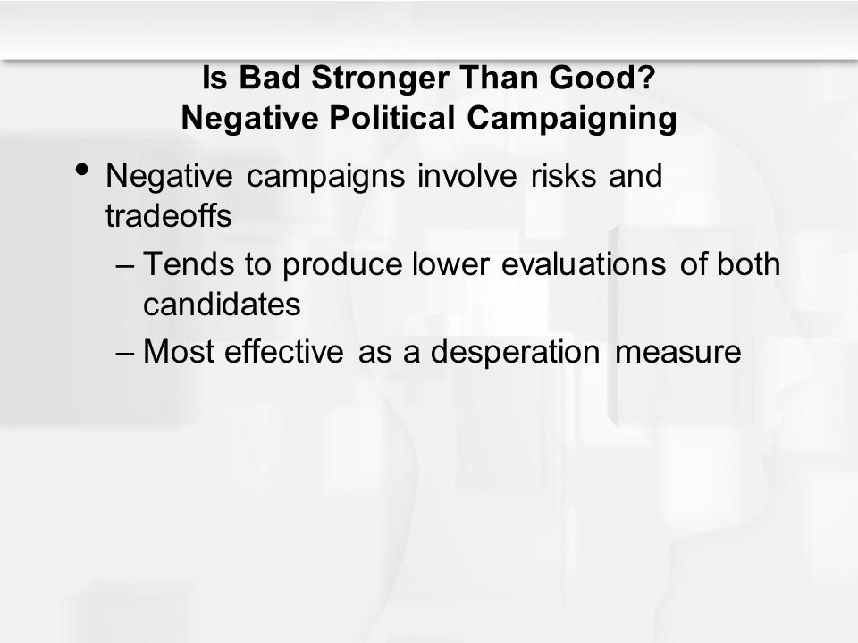 Is Bad Stronger Than Good Negative Political Campaigning