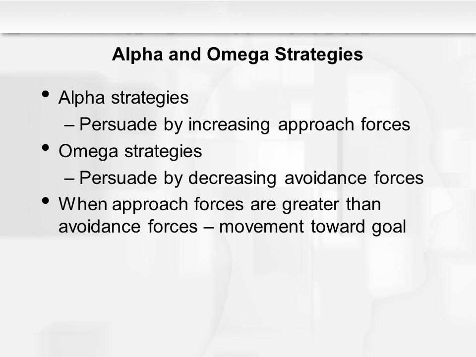 Alpha and Omega Strategies