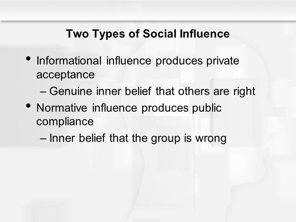 Two Types of Social Influence