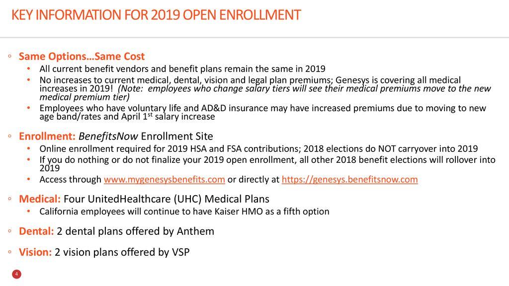 2019 USA Benefits Open Enrollment - ppt download