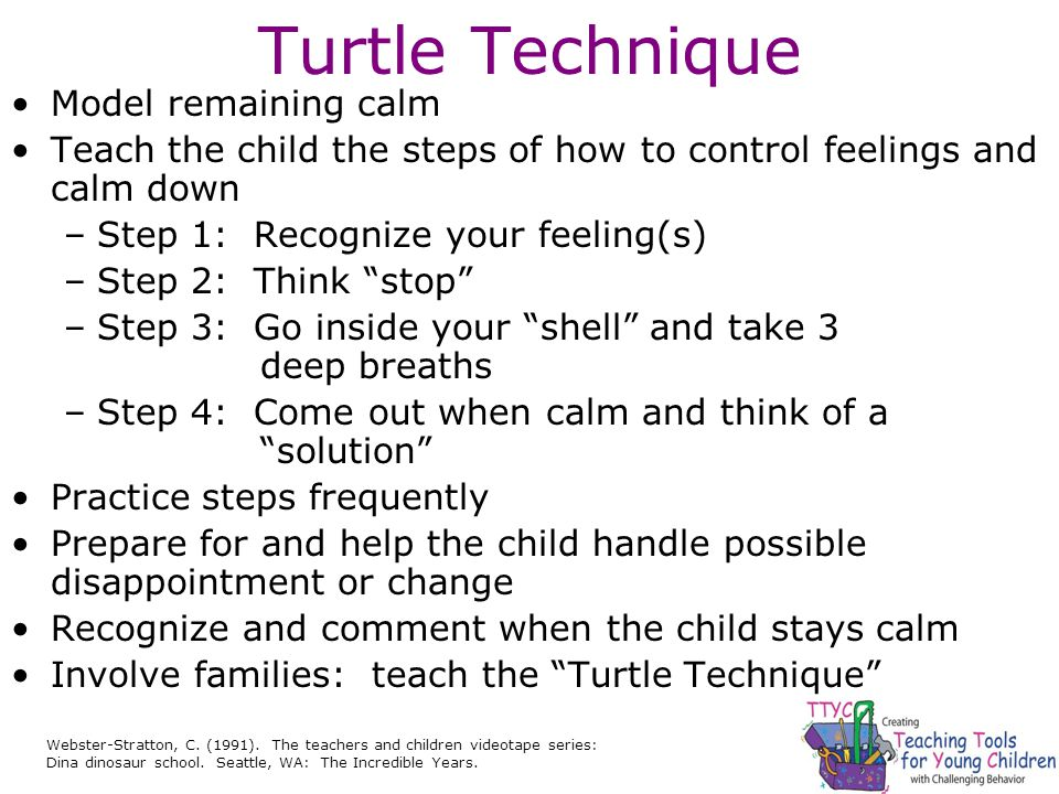 Turtle Technique Model remaining calm