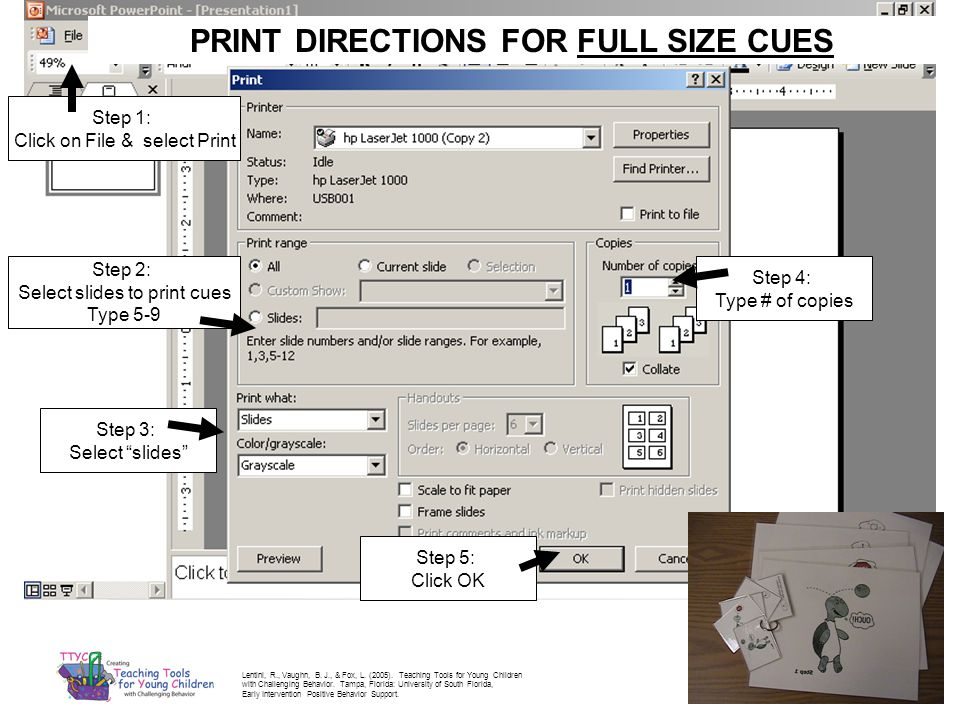PRINT DIRECTIONS FOR FULL SIZE CUES