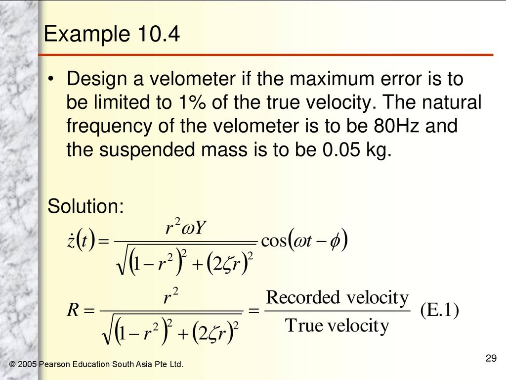 29 Example 104 Design A Velometer