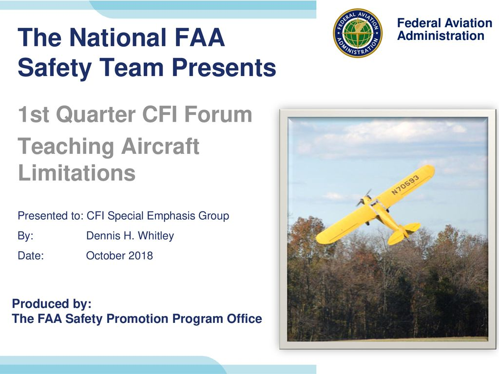 The National FAA Safety Team Presents - ppt download