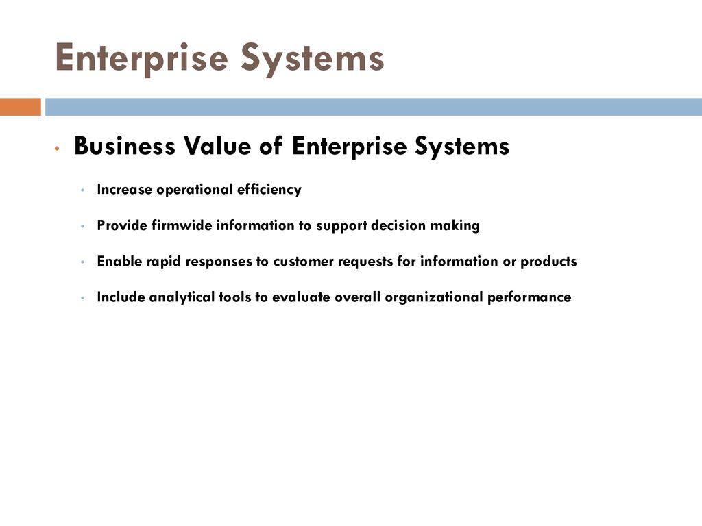 Enterprise System Business Intelligence Ppt Download