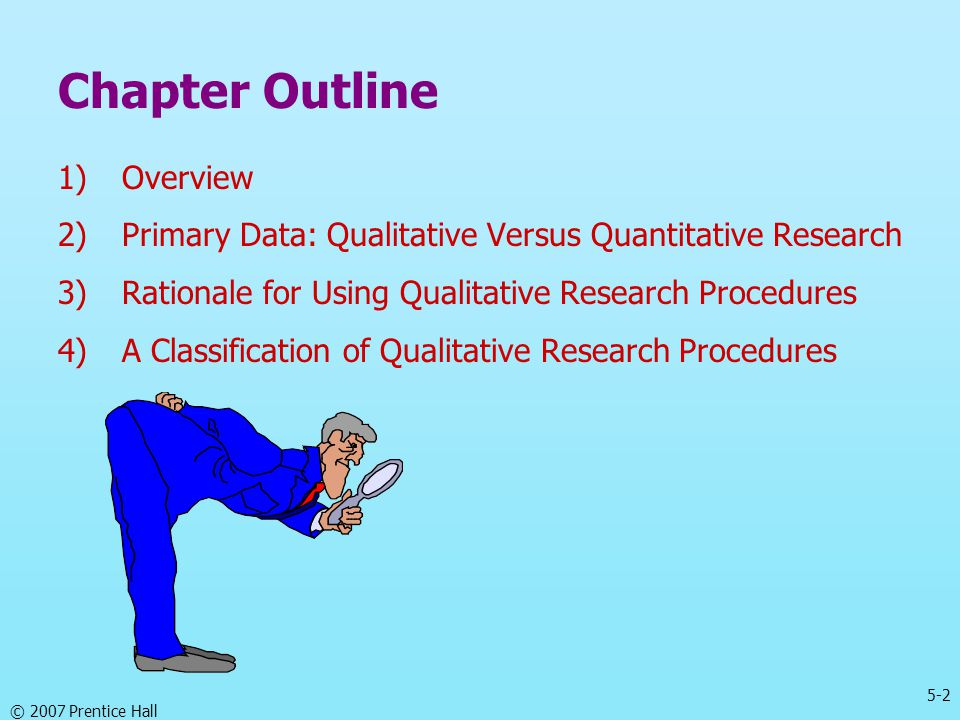 Chapter Outline Overview