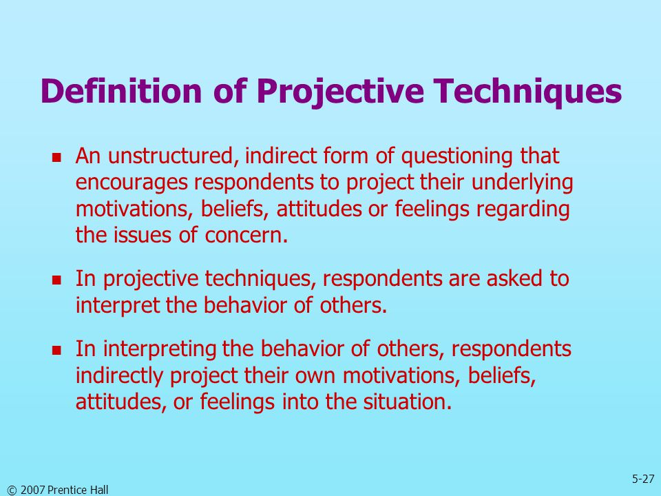 Definition of Projective Techniques