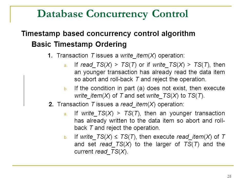 Database Concurrency Control