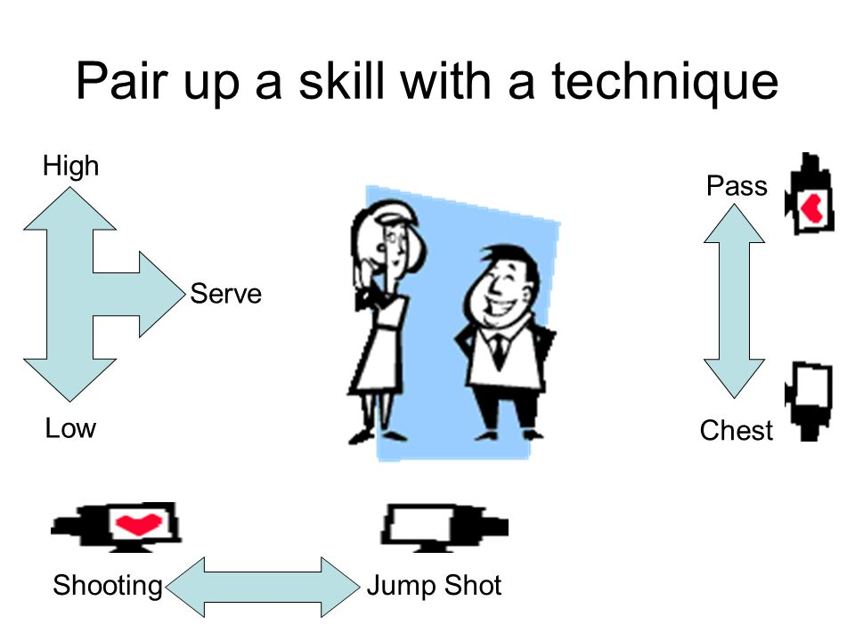 Pair up a skill with a technique