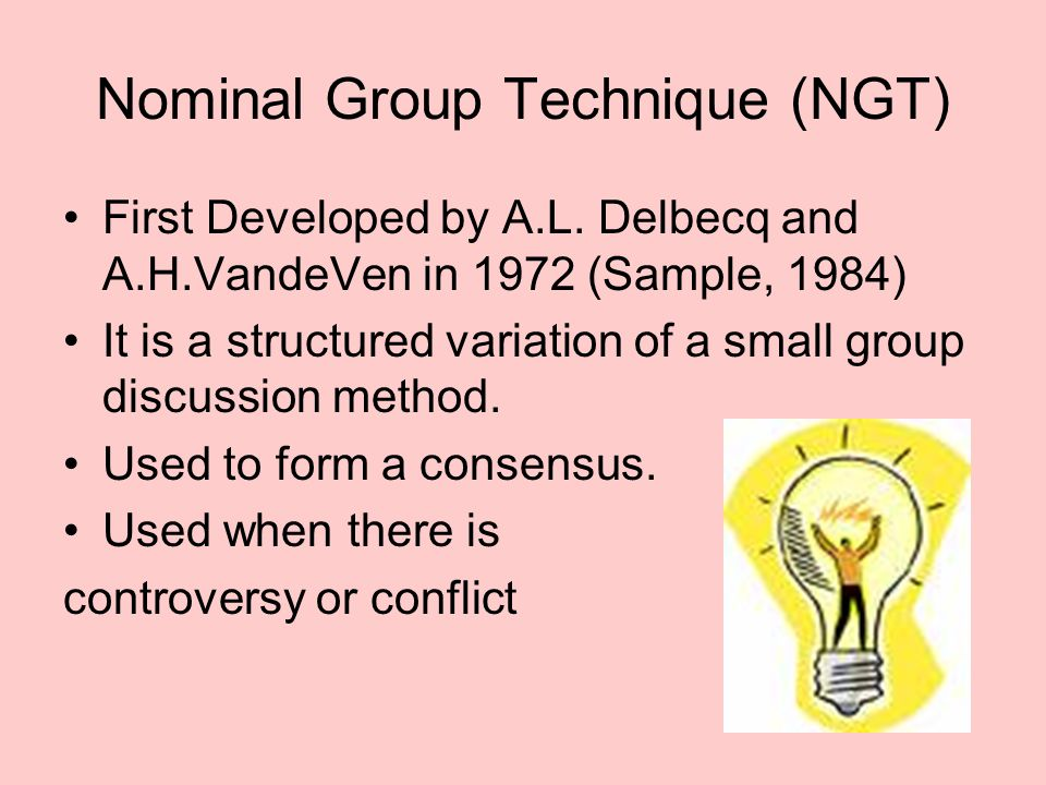Nominal Group Technique (NGT)