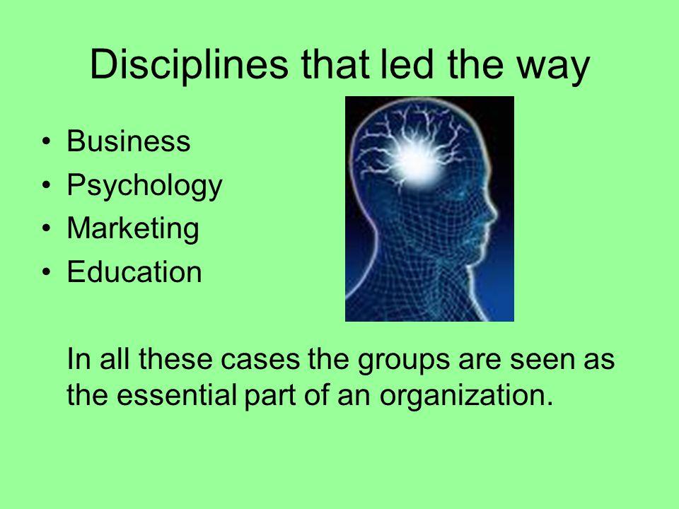Disciplines that led the way