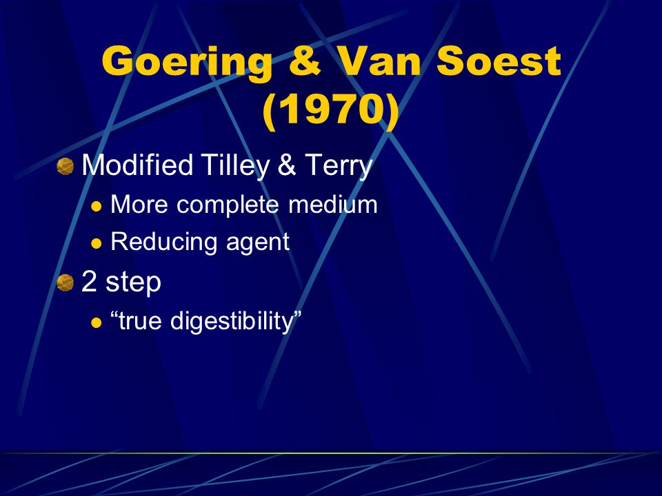 Goering & Van Soest (1970) Modified Tilley & Terry 2 step