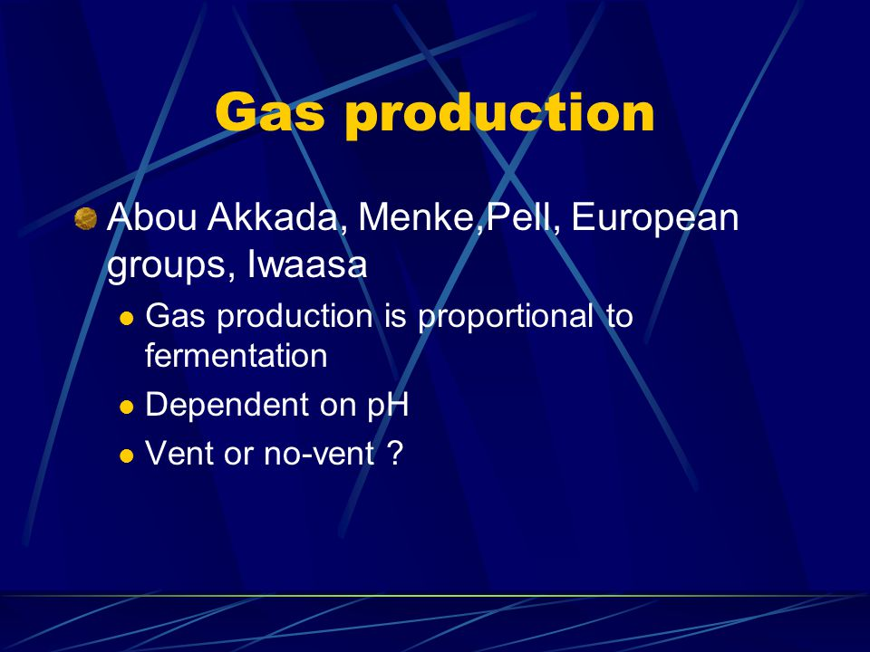 Gas production Abou Akkada, Menke,Pell, European groups, Iwaasa