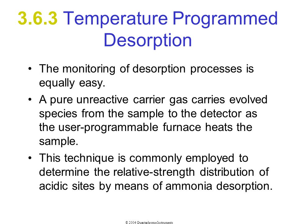 3.6.3 Temperature Programmed Desorption