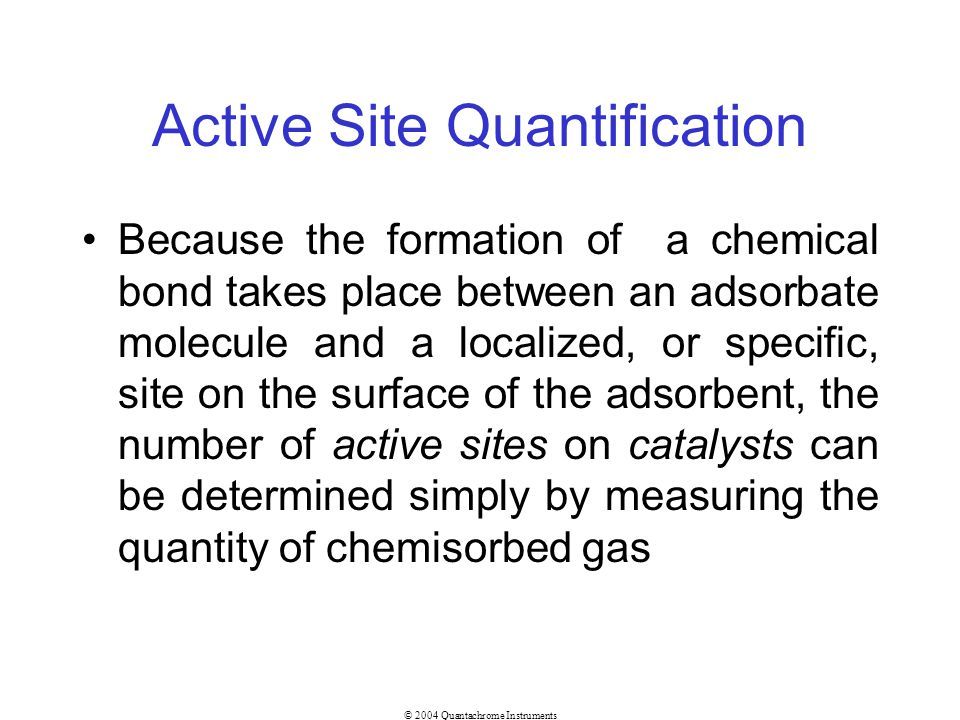 Active Site Quantification