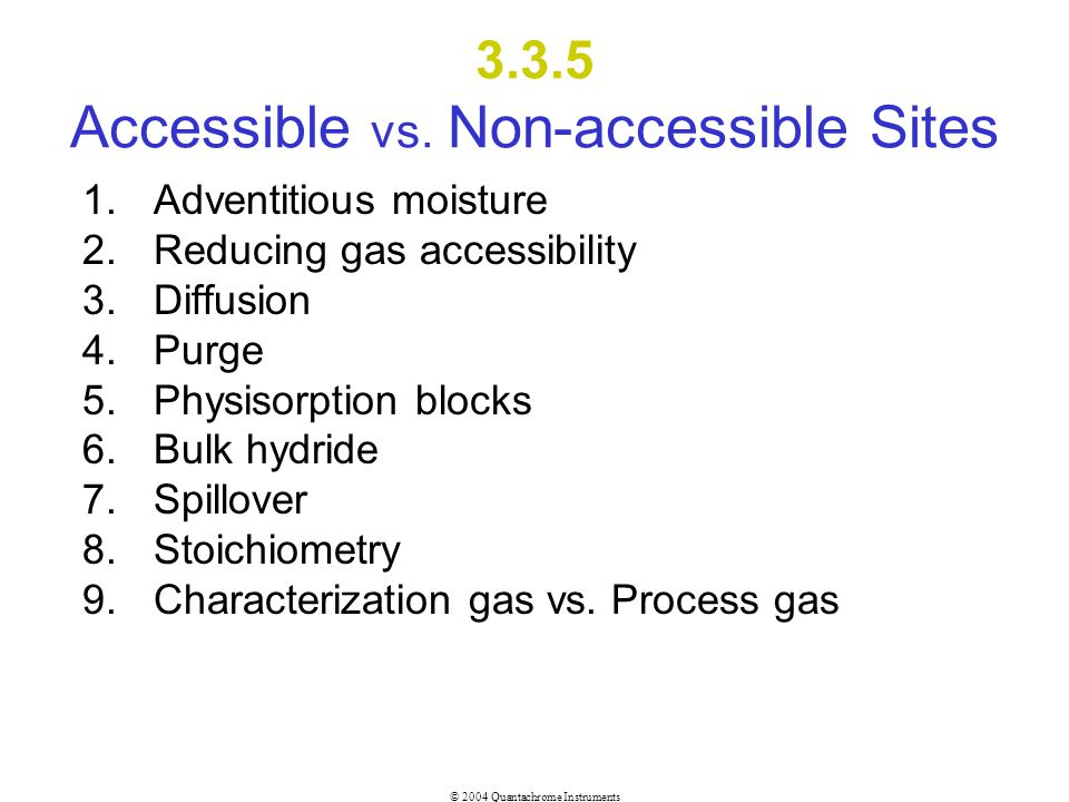 3.3.5 Accessible vs. Non-accessible Sites