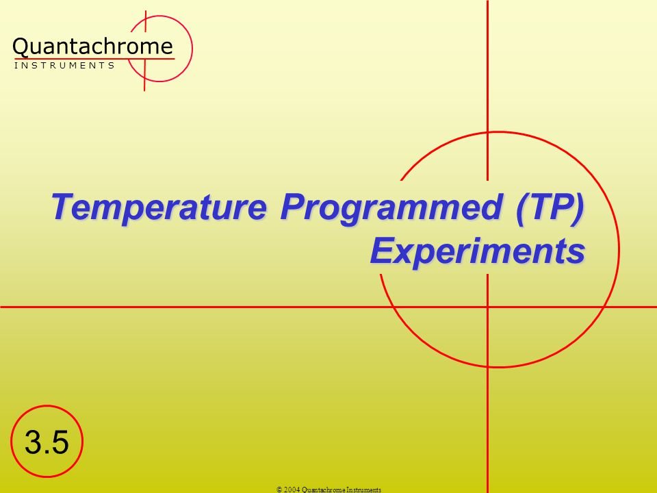 Temperature Programmed (TP) Experiments