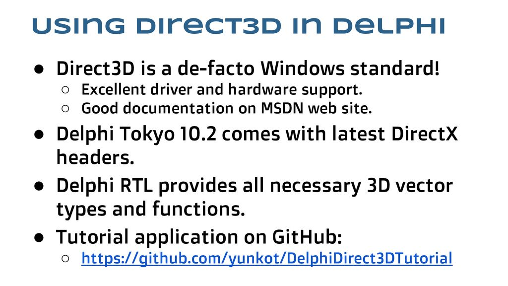 3D programming in Delphi - ppt download