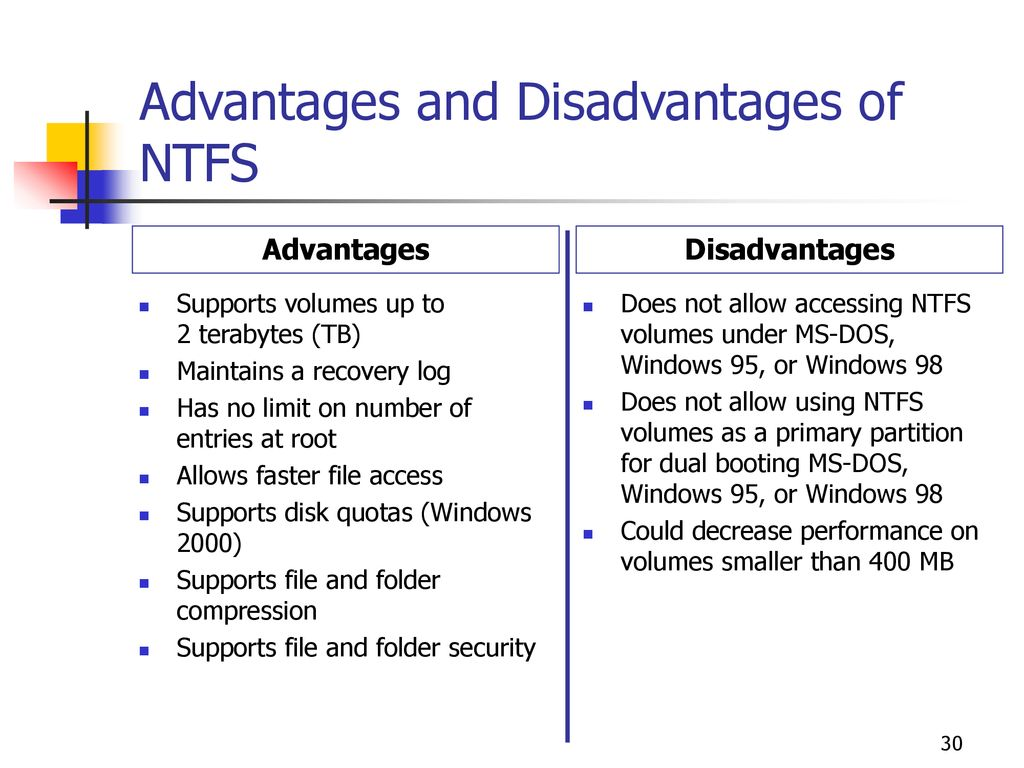 windows 95 advantages and disadvantages